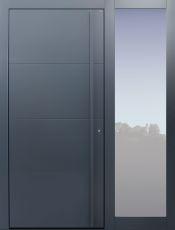 Haustür modern, dunkelgrau, anthrazit, TOPICcore, Sicherheitstür, passivhaustauglich, besser als Alu, Glas