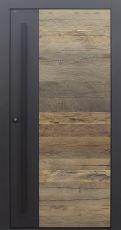 Haustür modern, Holz, Eiche, Altholz Eiche, Altholz, Sicherheitstür, passivhaustauglich, besser als Alu, Spion