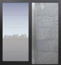 Haustür modern, Himalayastein, TOPICcore, Sicherheitstür, passivhaustauglich, besser als Alu, Glas, Seitenteil