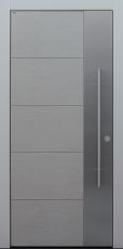 Haustür modern, Keramik, grau, Koshi grau, Sicherheitstür, passivhaustauglich, besser als Alu