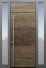 Haustür modern, Eiche, Altholz Eiche, Sicherheitstür, passivhaustauglich, besser als Alu, Glas, Seitenteil