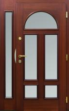 Haustür classic, Mahagoni, Seitenteil, Innenansicht, Glas