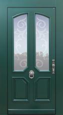 Haustür Landhaus klassisch rustikal, grün, Topiccore, Sicherheitstür, passivhaustauglich, besser als alu, Glas