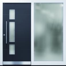 Haustür front door Current A250 T1 mit Seitenteil ST-G100 und Rahmen G100 www.topic.at