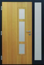 Haustüren modern, braun,  TOPICcore, Holz, Lärche, Sicherheitstür, passivhaustauglich, besser als alu, Glas