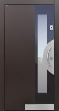 Haustür modern, TOPICcore, RAL, braun, Sicherheitstür, passivhaustauglich, besser als Alu, Glas, Fingerprint
