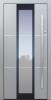 Haustür modern, grau, TOPICcore, Edelstahl, Fingerprint, Sicherheitstür, passivhaustauglich, besser als Alu, Glas