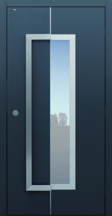 Haustür modern, grau, anthrazit, Holz, TOPICcore, Sicherheitstür, passivhaustauglich, besser als alu, Glas
