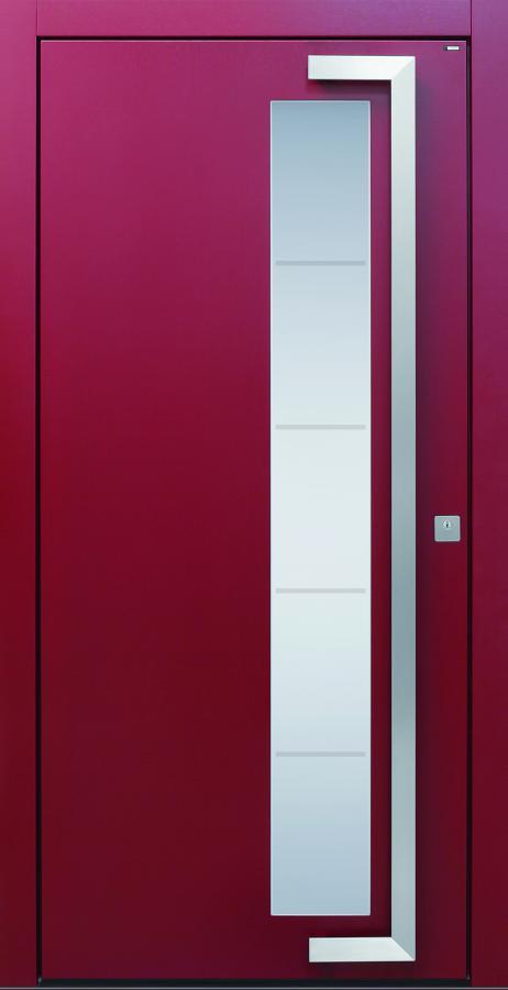 Haustüren, modern, rot,  TOPICcore, Edelstahl, Sicherheitstür, passivhaustauglich, besser als alu, Glas