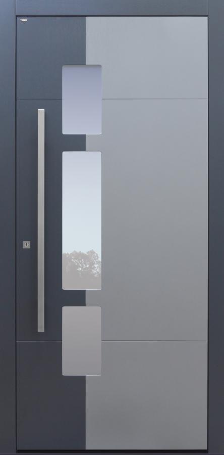 Haustür mit Optionen 2. Farbe und Designpaket Modell A250-T1