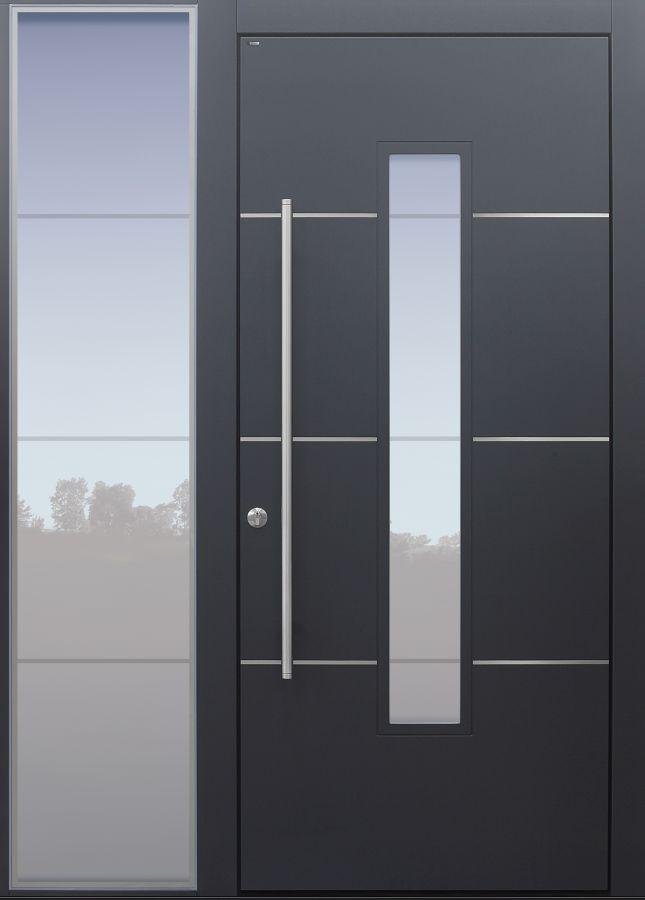 Haustür modern, anthrazit, Topiccore, Seitenteil, Sicherheitstür, passivhaustauglich,  besser als alu, Glas
