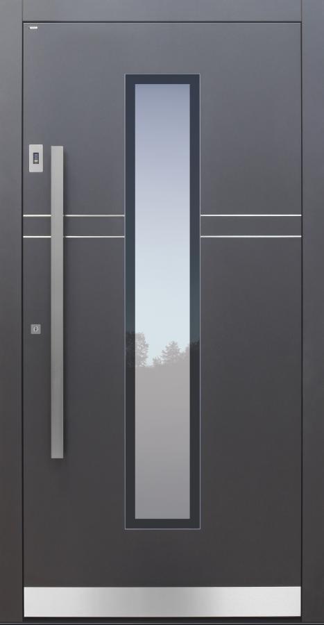 Haustür anthrazit mit Fingerprint Modell A483-T2