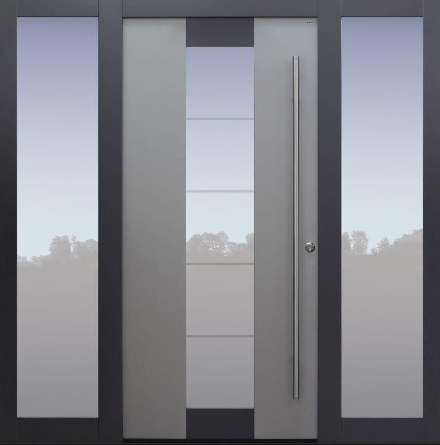 Haustür modern, TOPICcore, Seitenteil, Sicherheitstür, passivhaustauglich, besser als alu, Glas