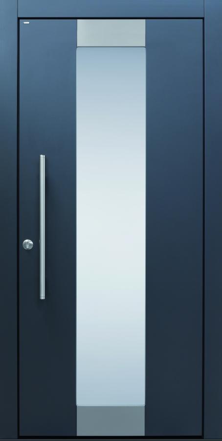 Haustür modern, TOPICcore, anthrazit, Edelstahl, Sicherheitstür, passivhaustauglich, besser als alu, Glas
