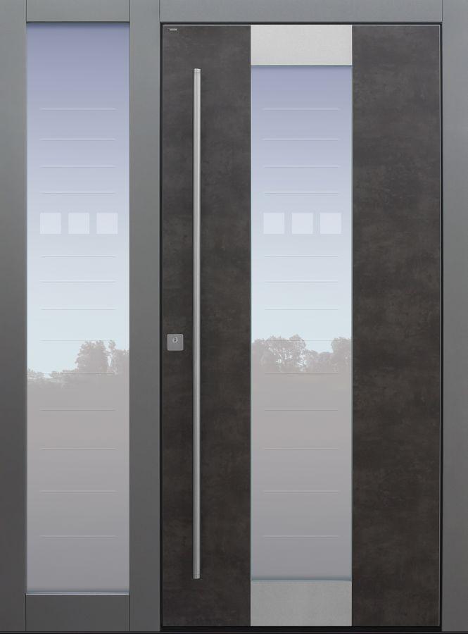 Haustür modern, Exterior, Seitenteil, Sicherheitstür, passivhaustauglich, besser als alu, Glas