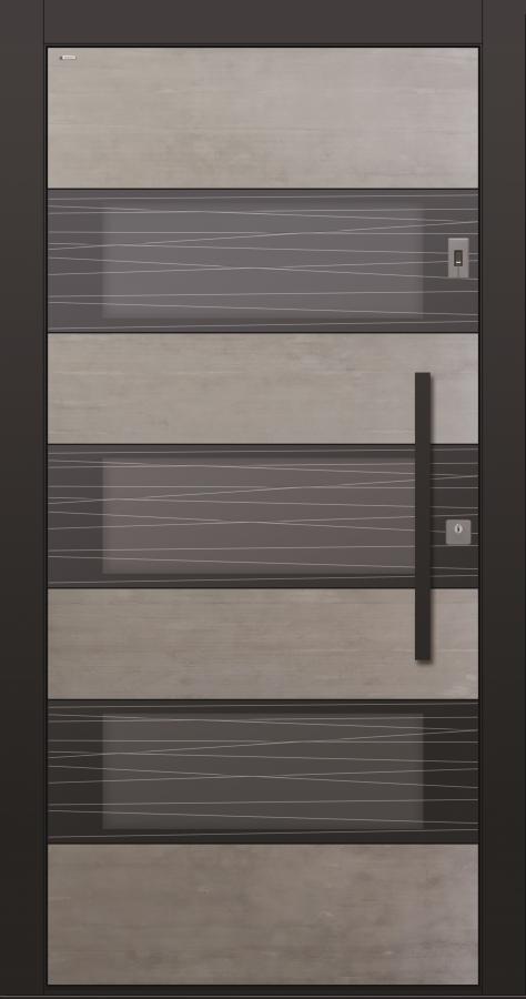 Haustür Echtbeton mit Fingerprint und Glasschliff MRS 9 Modell B17-T3