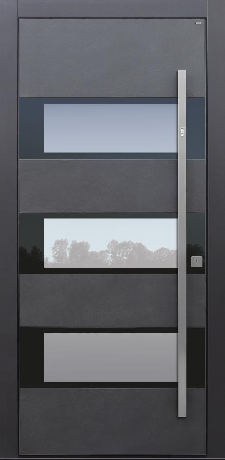 Haustüren modern, Keramik, dunkelgrau, Sicherheitstür, passivhaustauglich, TOPICcore, besser als Alu, Glas