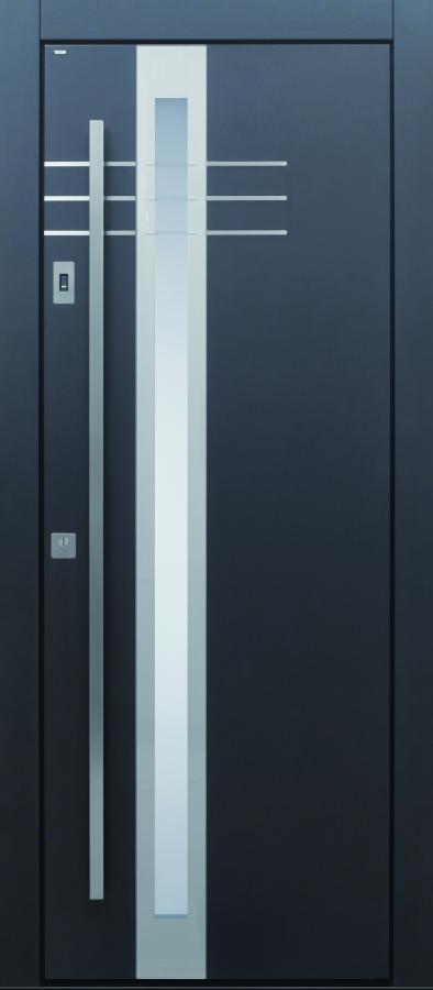 Haustür modern, TOPICcore, anthrazit, Sicherheitstür, passivhaustauglich, besser als alu, Glas