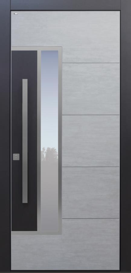 Haustür modern anthrazit, grau, Keramik, Sicherheitstür, passivhaustauglich, TOPICcore, besser als alu