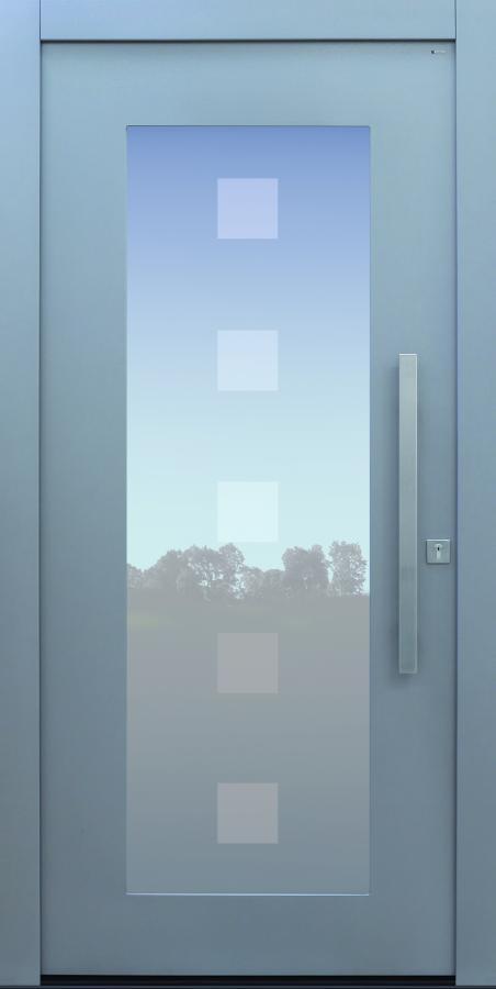Haustür modern, TOPICcore, grau, Sicherheitstür, passivhaustauglich, besser als Alu, Glasmotiv