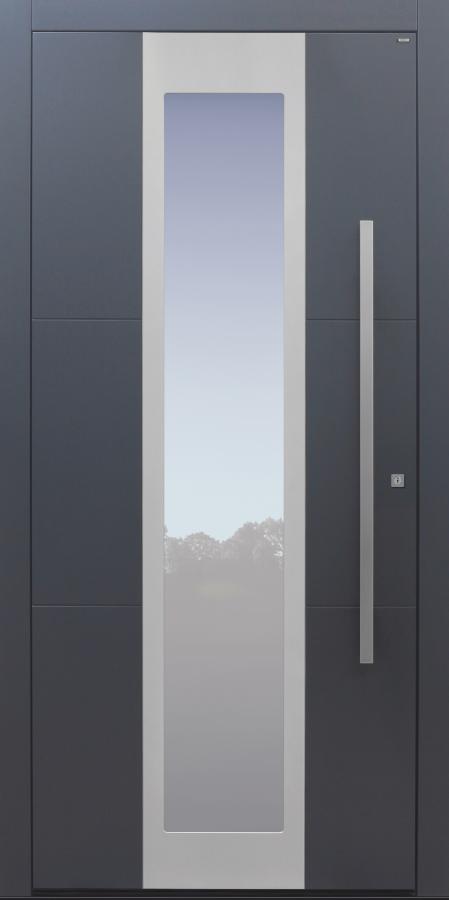 Haustür anthrazit mit Option 2. FaHaustür anthrazit mit Option 2. Farbe und Designpaket Modell B35-T1rbe und Designpaket Modell B9-T1