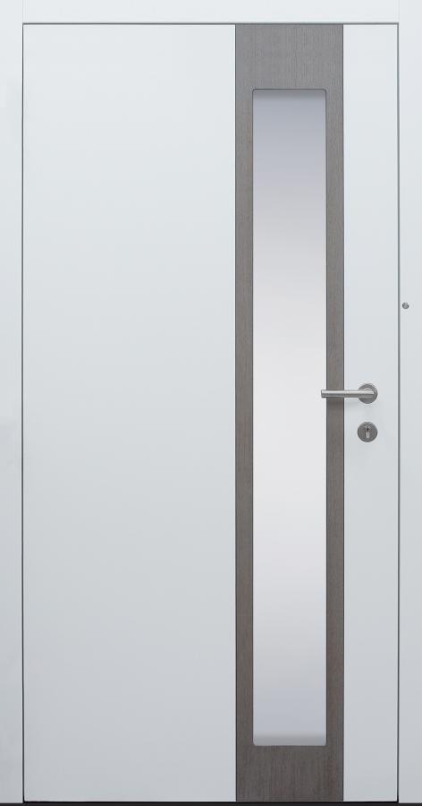 Haustür weiß Innenansicht mit Touch-Tagesfunktion Modell B37-T3