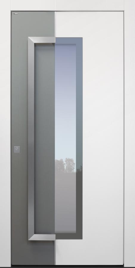 Haustür modern, weiß, TOPICcore, Edelstahl, Sicherheitstür, passivhaustauglich, besser als Alu, Glas