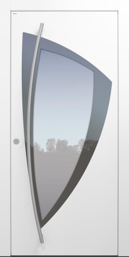 Haustür modern, weiß, TOPICcore, Sicherheitstür, passivhaustauglich, besser als Alu, Glas