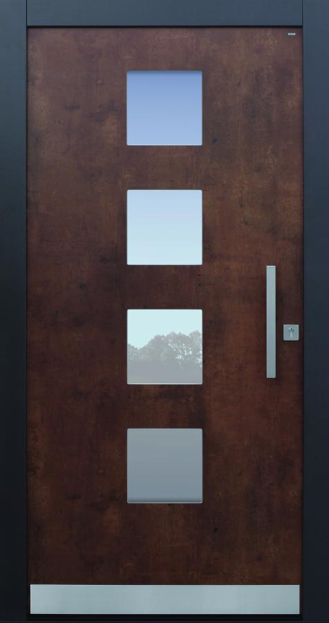 Haustür modern, Exterior, corro, TOPICcore, Sicherheitstür, besser als Alu, Glas