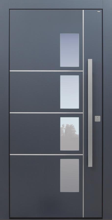 Haustür modern, TOPICcore, anthrazit, dunkelgrau, Sicherheitstür, passivhaustauglich, besser als Alu