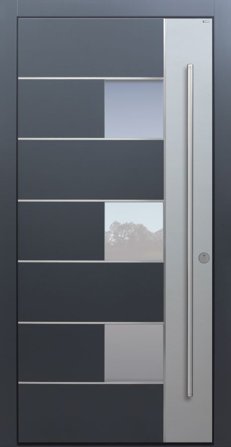 Haustür modern, TOPICcore, Anthrazit, Dunkelgrau, Sicherheitstür, passivhaustauglich, besser als Alu, Glas