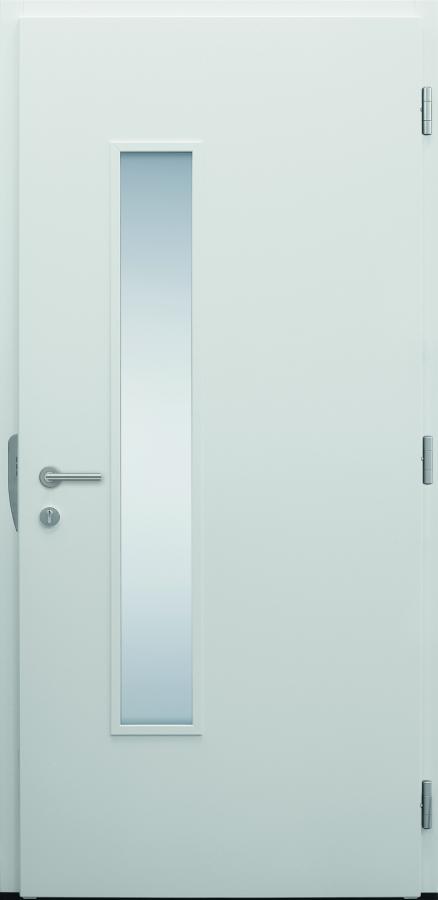 Haustür modern, TOPICcore, weiß, Innenansicht, Sicherheitstür, passivhaustauglich, besser als Alu, Glas