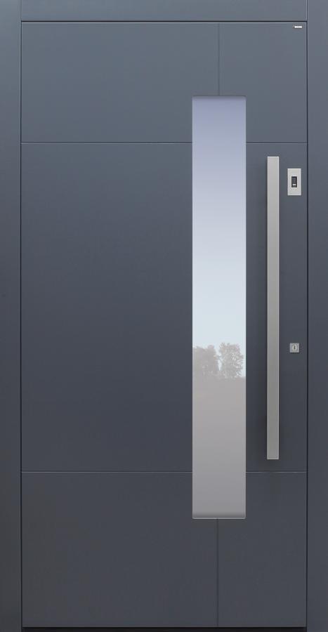Haustür anthrazit mit Option Designpaket mit Fingerprint Modell B68-T1
