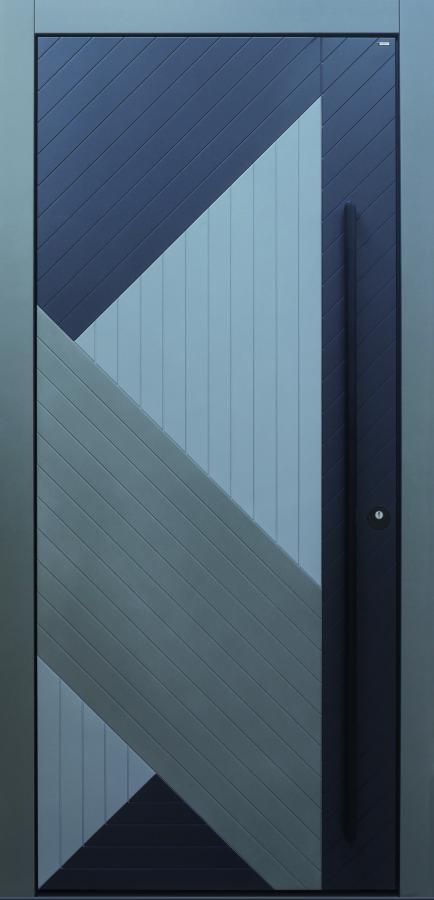 Haustür modern, grau, TOPICcore, Sicherheitstür, passivhaustauglich, besser als alu