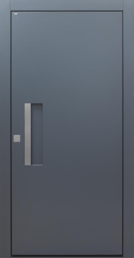 Haustür modern, anthrazit, TOPICcore, Schalengriff, Sicherheitstür, passivhaustauglich, besser als Alu