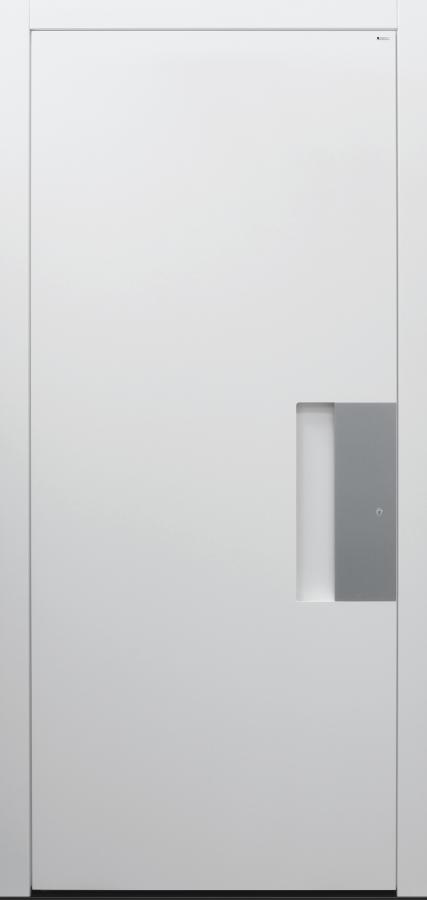 Haustür weiß mit Option Schalengriff Modell B9-T2