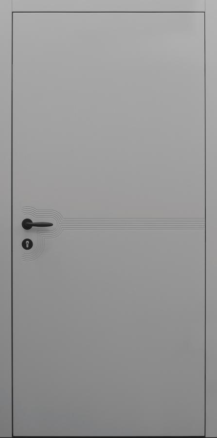 Haustür grau Innenansicht Modell B9-T3