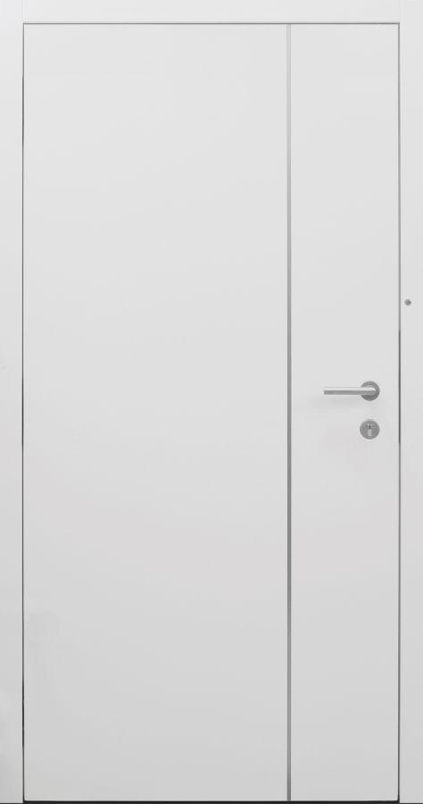 Haustür modern, weiß, Topiccore, Edelstahl, Sicherheitstür, passivhaustauglich, besser als Alu