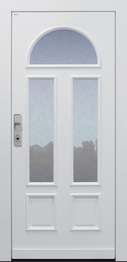 Haustür Landhaus klassisch rustikal, weiß, Topiccore, Sicherheitstür, passivhaustauglich, besser als alu, Glas