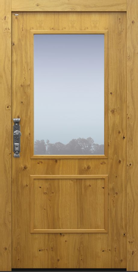 Haustür Landhaus klassisch rustikal, Eiche, Holz, Sicherheitstür, besser als alu, Glas