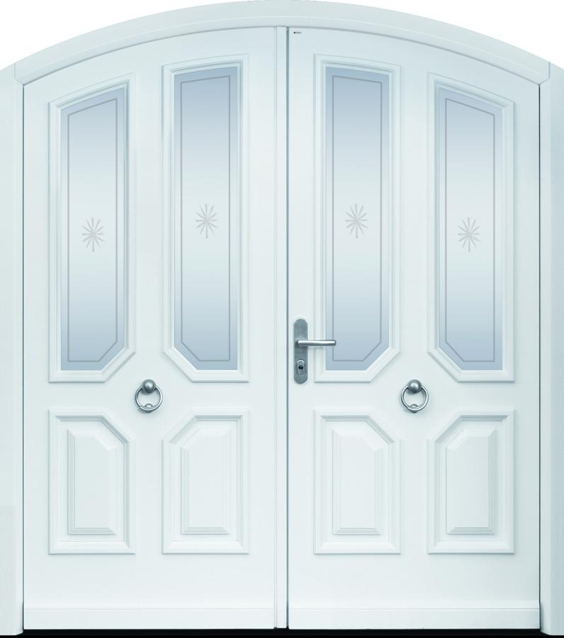 Haustür, Landhaus, weiß, TOPICcore, Sicherheitstür, besser als alu, Seitenteil, Glas