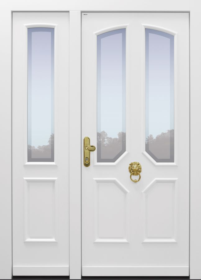 Haustür, klassisch, Landhaus, weiß, TOPICcore, Sicherheitstür, besser als alu, Seitenteil, Glas