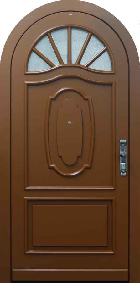 Haustür, Landhaus klassisch rustikal, braun, TOPICcore, Sicherheitstür, passivhaustauglich, besser als alu, Glas