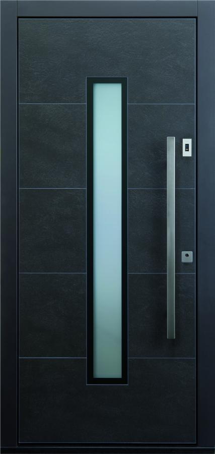 Haustür modern anthrazit, Keramik, Sicherheitstür, passivhaustauglich, TOPICcore, besser als alu, Glas, Fingerprint