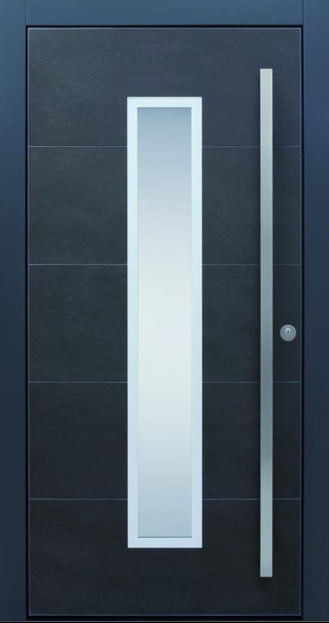 Haustür modern, anthrazit, grau, Keramik, Sicherheitstür, passivhaustauglich, TOPICcore, besser als alu, Glas