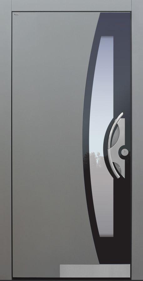 Haustür modern, TOPICcore, grau, Sicherheitstür, passivhaustauglich, besser als Alu, Glas