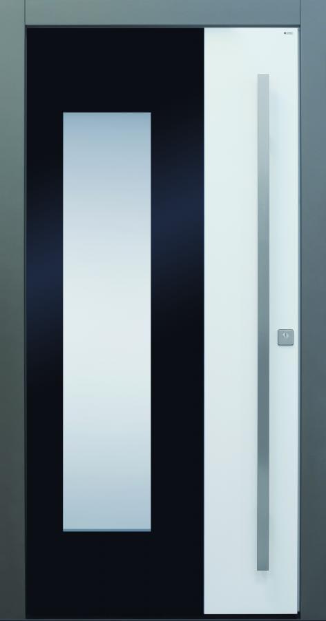 Haustür modern, weiß, schwarz, grau  TOPICcore, Sicherheitstür, passivhaustauglich, besser als alu, Glas