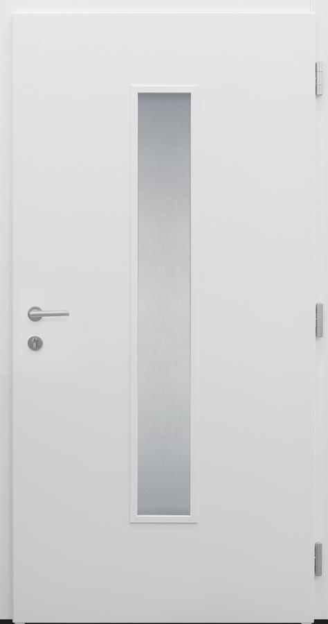 Haustür weiß Modell A483-T innen