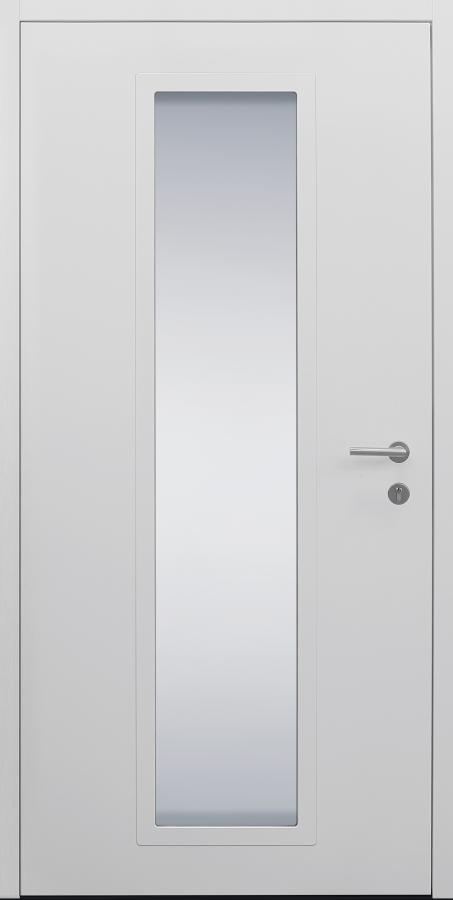 Haustür weiß Modell B11-T1 innen