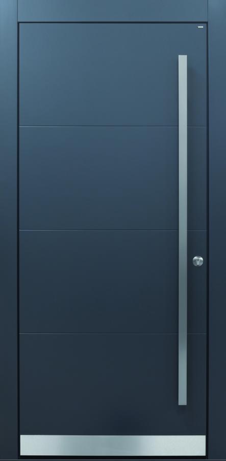 Haustür modern, anthrazit, Fräsungen, TOPICcore, Sicherheitstür, passivhaustauglich, besser als Alu